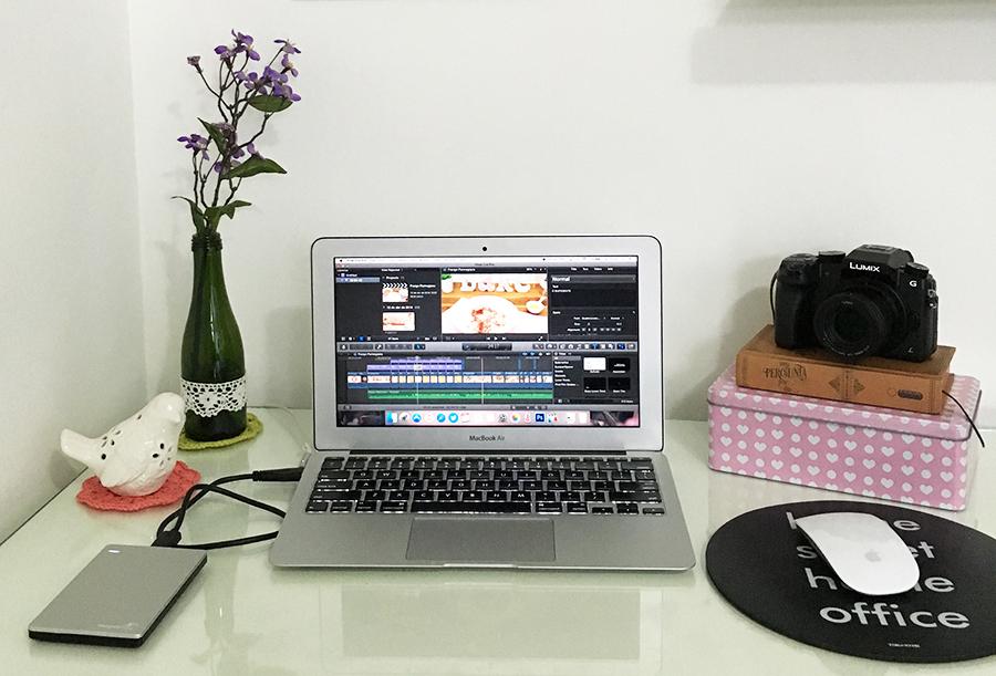 Edição: Macbook Air + Final Cut Pro