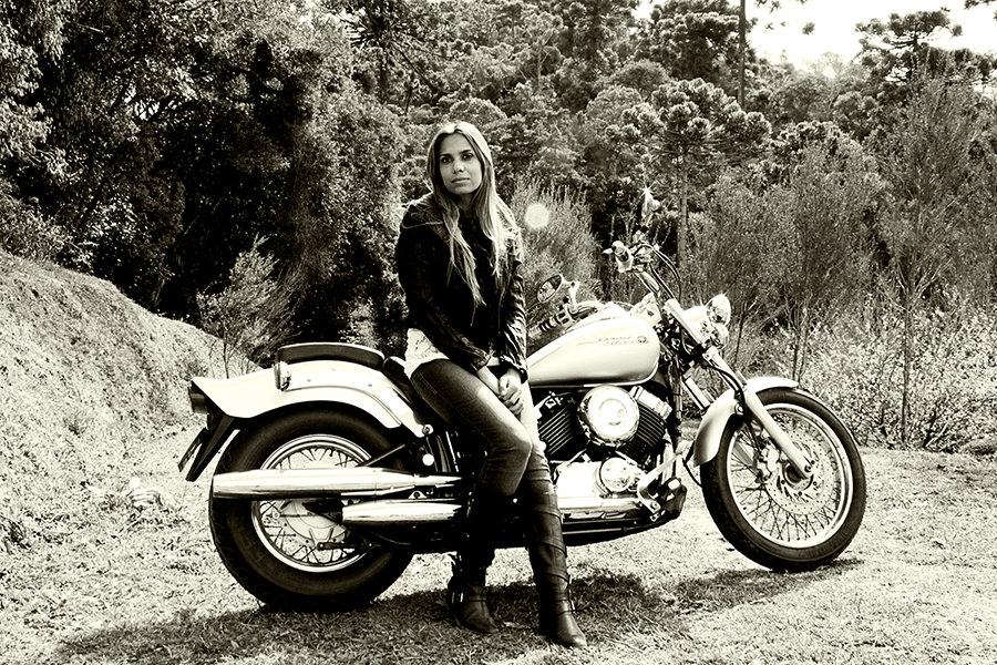 E para agradar o marido fomos e voltamos de moto, coisa que ele adora!