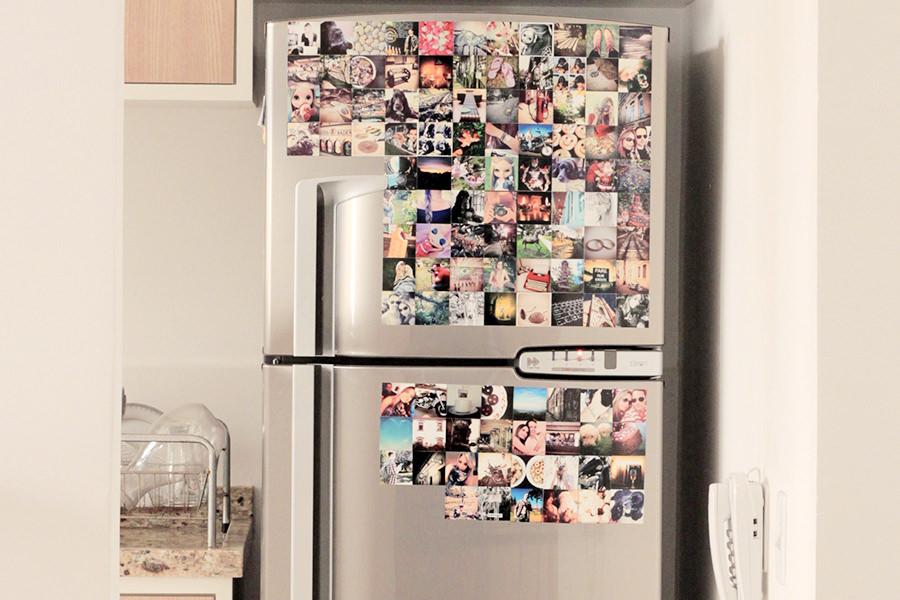 Adoro o cantinho do café, mas a musa da cozinha é e sempre será a geladeira com nossas fotos favoritas!