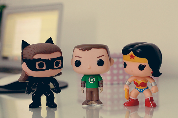 Cat Woman, Sheldon Cooper, Wonder Woman