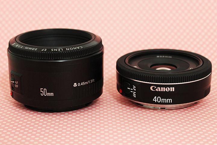50mm f/1.8 II x 40mm, f/2.8 STM
