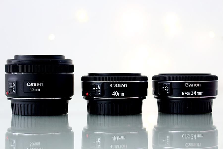Comparação de Lentes: Canon EF 50mm f/1.8 STM - Canon EF 40mm f/2.8 - Canon EF-S 24mm f/2.8