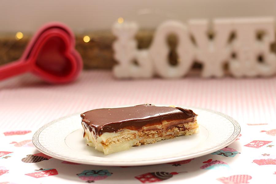 Pavê de Baunilha com Chocolate