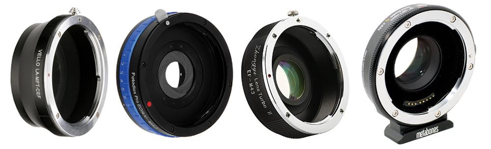 - Simples - Controle de Abertura - Redutor focal - Speed Booster